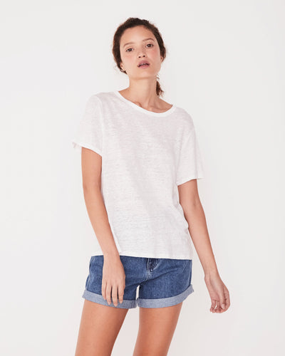 Linen Tee White | Shop Assembly Label at IKON