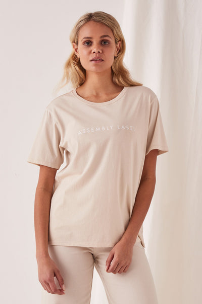 Womens Logo Cotton Crew Tee | Shop Assembly Label at IKON NZ