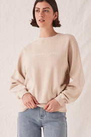 Womens Logo Fleece - Ivory | Shop Assembly Label at IKON NZ
