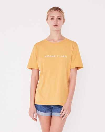 Logo Cotton Crew Tee Amber | shop Assembly Label at IKON, Arrowtown, NZ