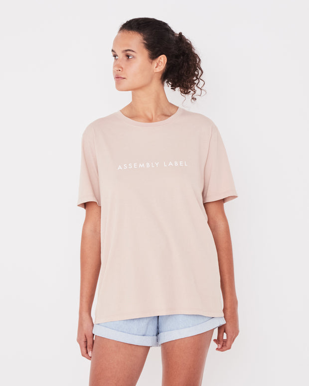 Logo Cotton Crew Tee - Dusk