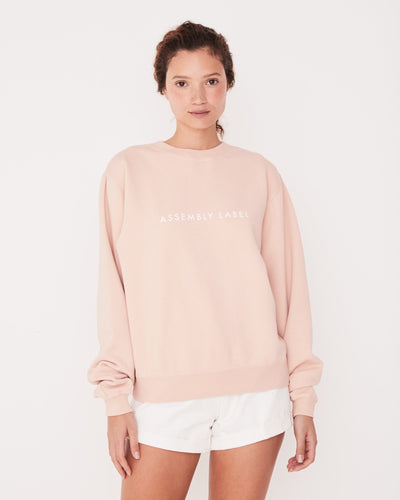 Pigment Dye Logo Fleece - Blush