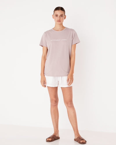 Womens Logo Tee Fawn | Shop Assembly Label Online at IKON Arrowtown