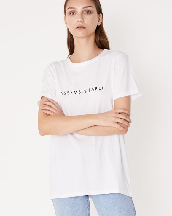 Womens Logo Tee White| Shop Assembly Label Online at IKON Arrowtown