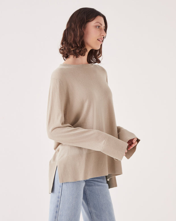 Womens Lora Knit - Washed Khaki