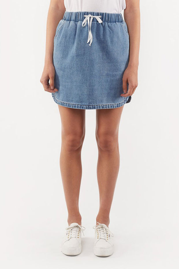 Minor Skirt - Denim | Shop Silent Theory at IKON Arrowtown NZ