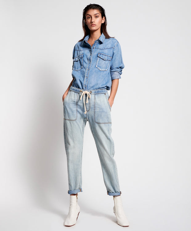 Shabbies Drawstring Boyfriend Jean | Shop OneTeaspoon at IKON NZ