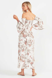 Tigerlily Mazari Midi Dress - Ivory