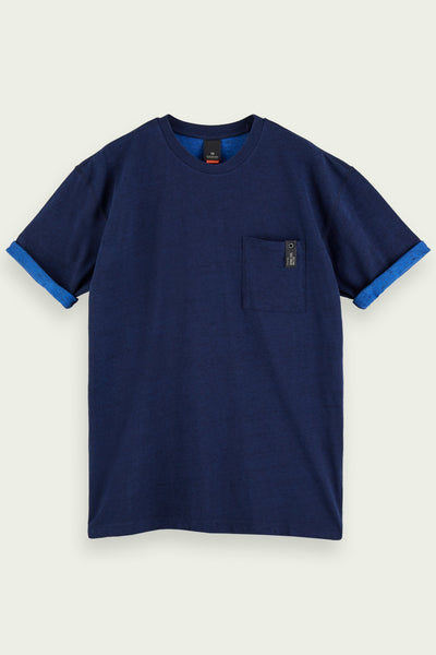 Mens Short Sleeve Layer-Look T-Shirt | Shop Scotch and Soda at IKON