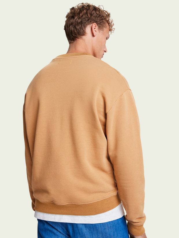 Mens Boxy Fit Sweatshirt - Camel