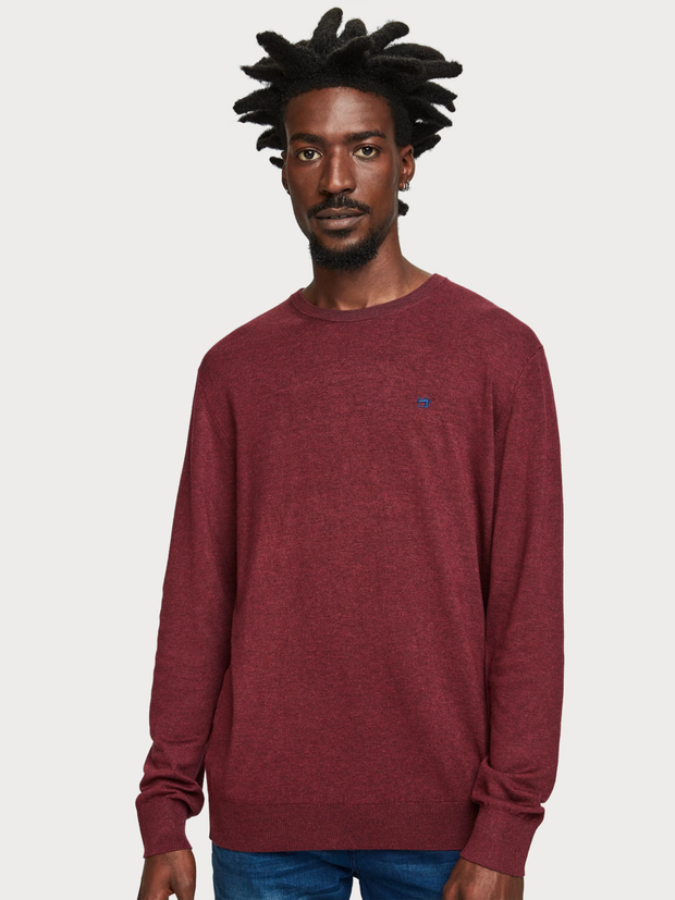 Mens Basic Melange Pullover | Shop Scotch and Soda at IKON