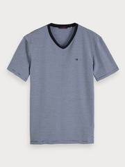 Mens Basic V-Neck T-Shirt - Blue