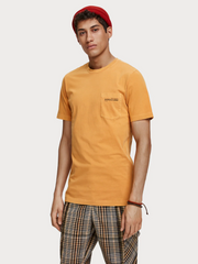 Mens Garment Dyed T-Shirt Yellow | Shop Scotch and Soda at IKON NZ