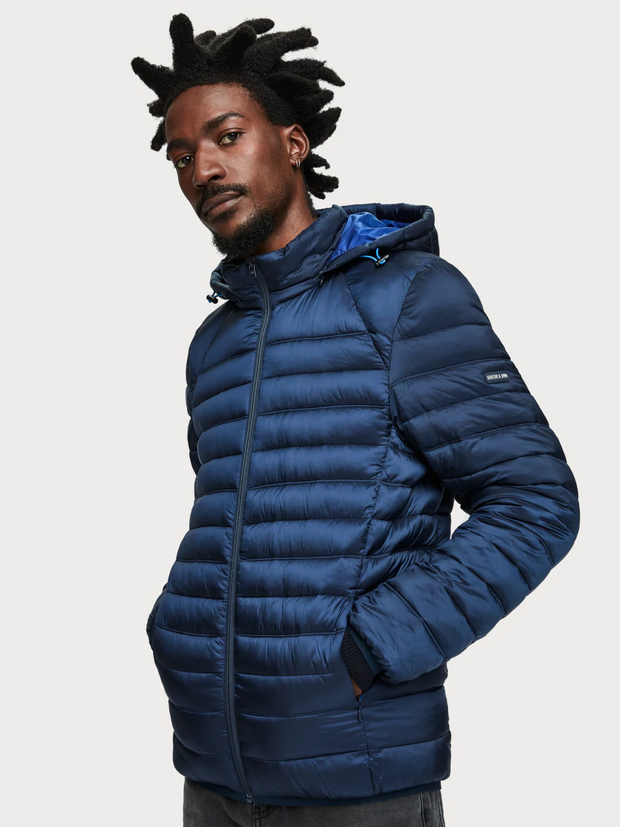 Men's Puffer Jacket - Navy