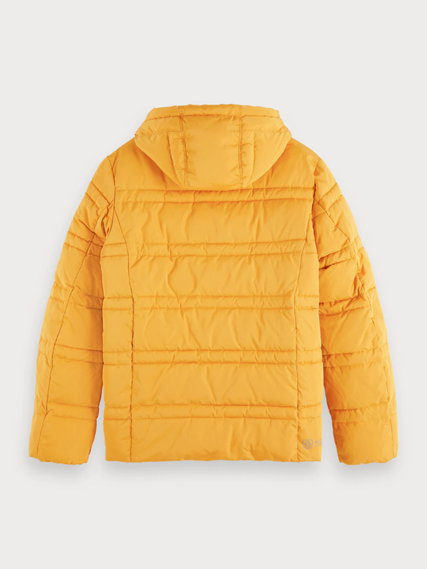 Men's Quilted Puffer Jacket - Sunflower Yellow