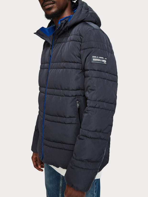 Men's Quilted Puffer Jacket - Night