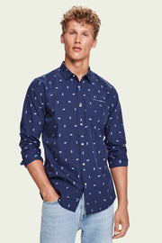 Mens Embroidered Chic Pocket Shirt | Shop Scotch and Soda at IKON