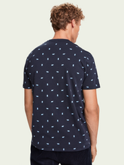 Mens Stretch Cotton Short Sleeve T-Shirt - Navy