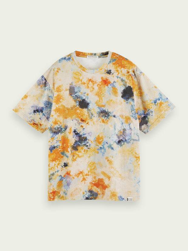 Mens Tie-Dyed Short Sleeve T-Shirt