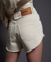 Outlaws Denim Shorts - Nashville Cream
