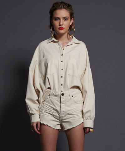 Outlaws Denim Shorts Nashville Cream | Shop OneTeaspoon at IKON NZ