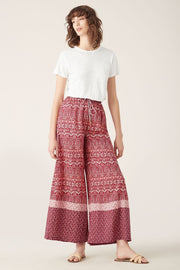 Tigerlily Nivi Wide Leg Pant Burgundy | Shop Tigerlily at IKON NZ
