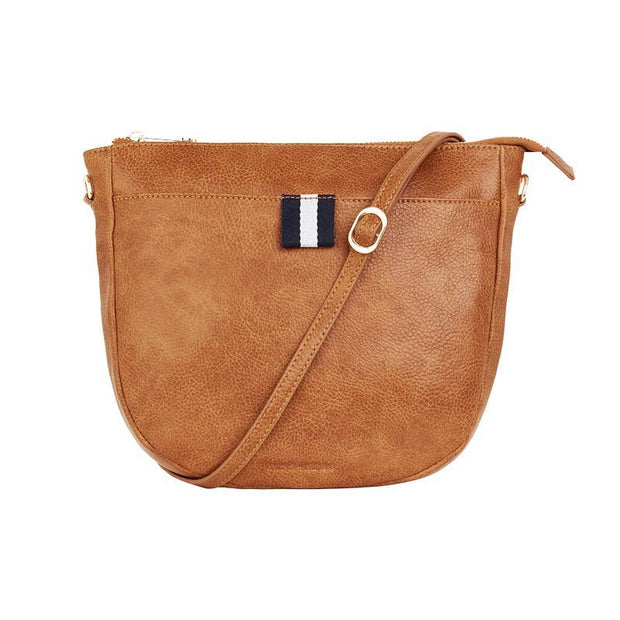 New York Shoulder Bag Tan Pebble | shop Elms&King at IKON, Arrowtown, NZ