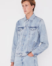 Mens Renton Denim Jacket - Stone Blue