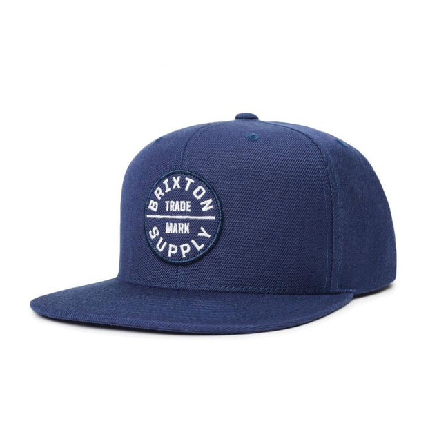 Brixton Oath III Snapback - Washed Navy/White
