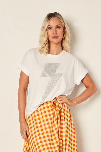 The Relaxed Tee - White with Bolt | Shop The Others at IKON NZ