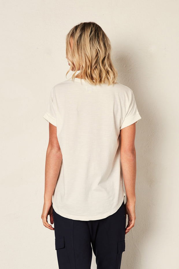 The Staple Relaxed Tee - White