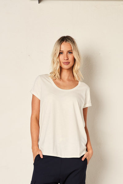 The Staple Deep Relaxed Tee - White | Shop The Others at IKON NZ