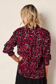 The Giraffe Wrap Shirt -  Hot Pink Print | Shop The Others at IKON NZ