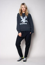 The Vintage Hoodie Black/NY Eagle | Shop The Others at IKON NZ