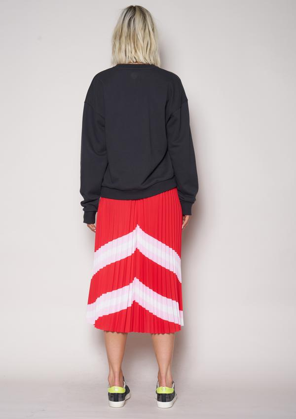 The Sunray Skirt - Red/Pink/White