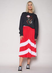 The Sunray Skirt - Red/Pink/White | Shop The Others at IKON NZ