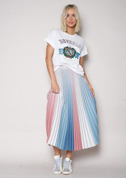 The Sunray Skirt - Dimmed Red/White/Blue | Shop The Others at IKON NZ