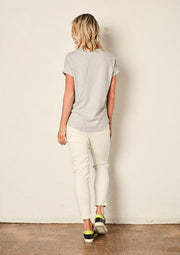 The Staple Relaxed Tee - Ash Marle