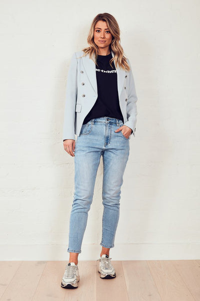 The Others Blazer - Dusty Blue | Shop The Others at IKON NZ