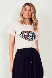The Relaxed Tee - Soft Pink/Sequin Lips | Shop The Others at IKON NZ