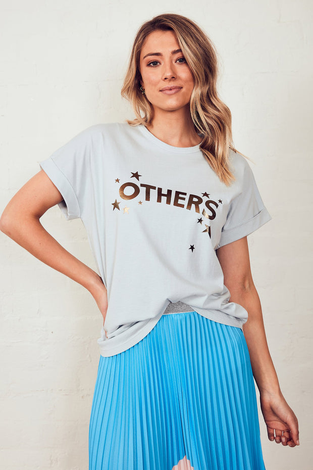 The Relaxed Tee - Dusty Blue/Stars | Shop The Others at IKON NZ