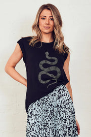 The Muscle Tank - Black/Python | Shop The Others at IKON NZ