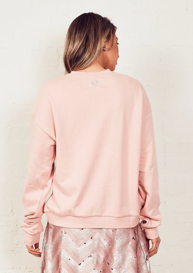 The Vintage Sweat - Pink/Others Varsity