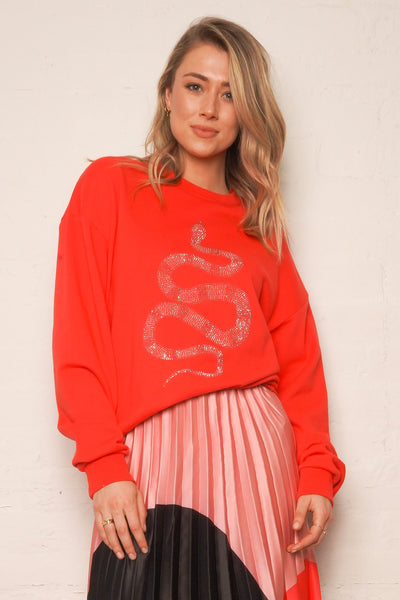 The Vintage Sweat - Guava/Python | Shop The Others at IKON NZ