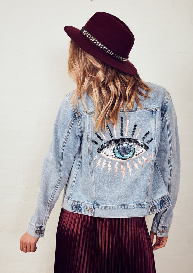 The Denim Jacket - Mid Blue/Seeing Eye | Shop The Others at IKON NZ