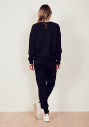 The Slouchy Sweat - Black/Peace