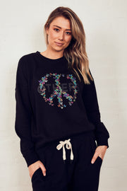 The Slouchy Sweat - Black/Peace | Shop The Others at IKON NZ