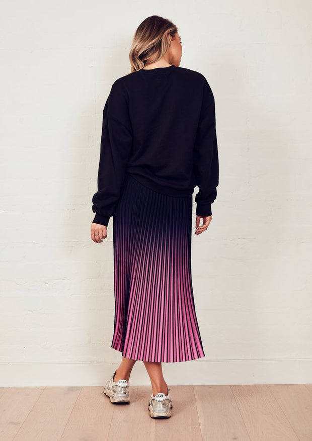 The Sunray Skirt - Navy/Pink Ombre