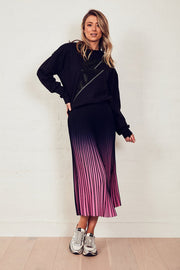 The Sunray Skirt - Navy/Pink Ombre | Shop The Others at IKON NZ