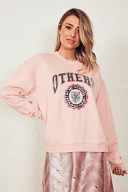 The Vintage Sweat - Pink/Others Varsity | Shop The Others at IKON NZ
